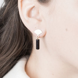 GEMSTONE Earring Fan Stud & Gem