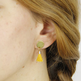 COTTON Studs Circle & Tassel
