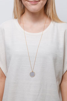 NECKLACE long matte Cirlce