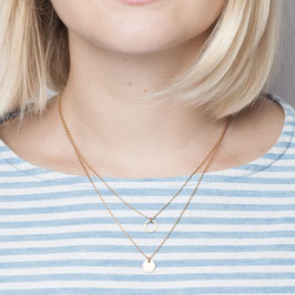 NECKLACE short mini Hexagon layered