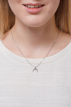NECKLACE short Moon silver