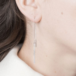 THREAD Earring silver Bar