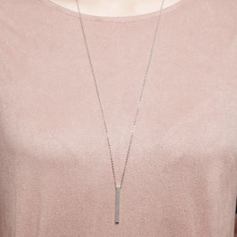NECKLACE long silver Bar simple