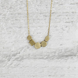 NECKLACE short mixed Brass Shapes