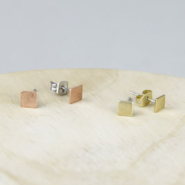 STUDS tiny Squares Copper or Brass