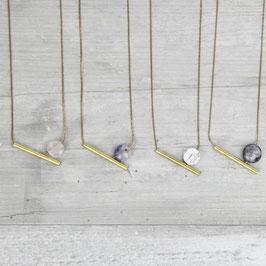 GEMSTONE Necklace short Tube asymmetrical