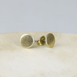 STUDS simple Circle Silver or Brass