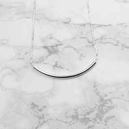 NECKLACE short silver Tube