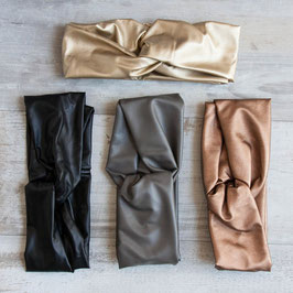 HEADBAND Turban Vegan Leather