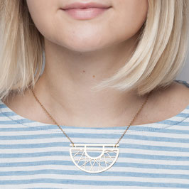NECKLACE short geometric Semi Circle