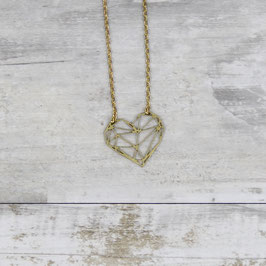 NECKLACE short geometric Heart