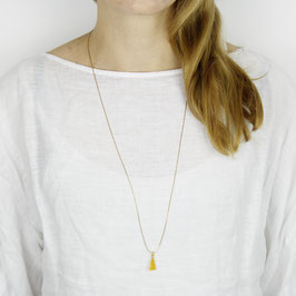 COTTON Necklace long minimalistic Tassel