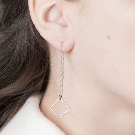 THREAD Earring Square silver