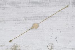 WOODEN Bracelet Wood Circle & Brass Shape