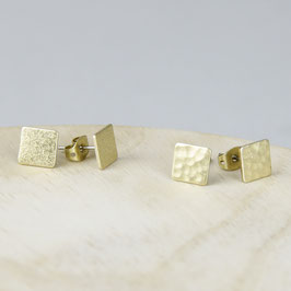 STUDS Square hammered or frosted
