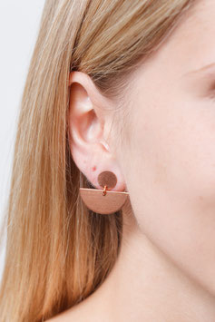 STUDS Copper Semi Circle & Circle