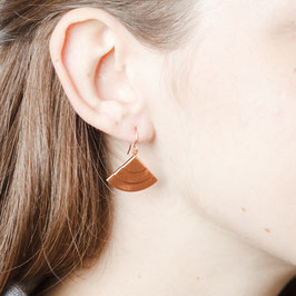 COPPER Earring Quarter Circle