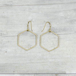 EARRINGS Simple Hexagon