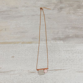 COPPER Necklace short Howlite