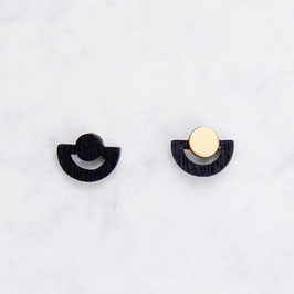 WOODEN Earring Half Circle