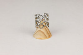 RING Honeycomb silver