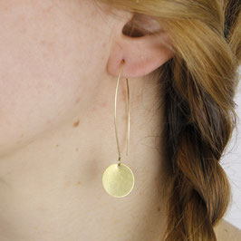 EARRINGS Circle Round Black & Gold