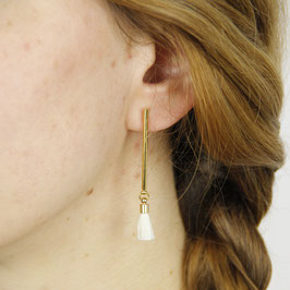 Cotton Collection Earring Bar Tassel