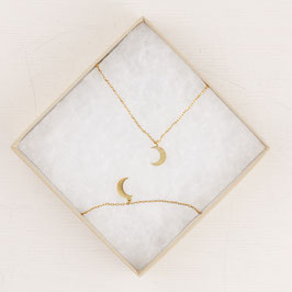 GIFT SET Necklace Moon and Breacelet Moon