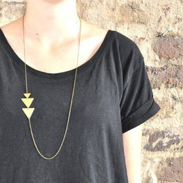 NECKLACE long asymmetrical Triangles