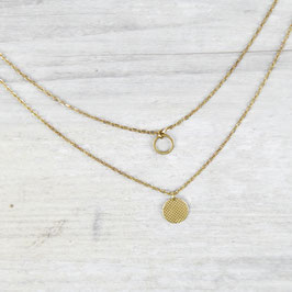 NECKLACE short mini Circle layered