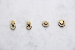 WOODEN Studs Round Shapes
