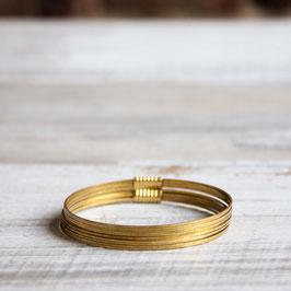 CUFF Bracelet Circles Brass