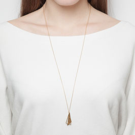 NECKLACE long asymmetrical Triangles  hammered