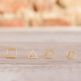 STUDS Shapes Outlines gold plated