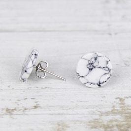 GEMSTONE Earring Stud Marble