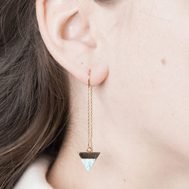 THREAD Earring Triangle marbled