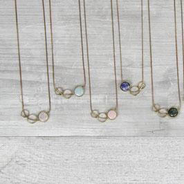 Necklace Gemstone Open Shapes