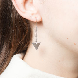 THREAD Earring Silver Triangle
