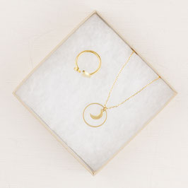 GIFT SET Moon Necklace and Ring