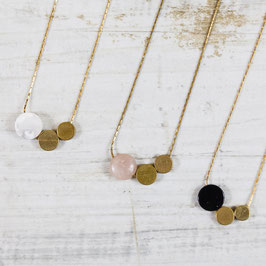 GEMSTONE Necklace short Circles