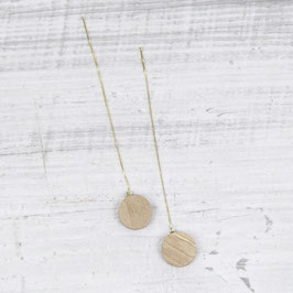 WOODEN Thread Earring Circle