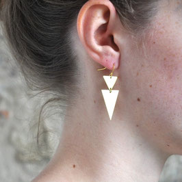 EARRING double Triangles