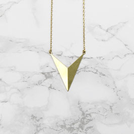 NECKLACE short geometric Chevron 3D