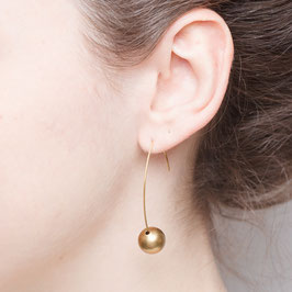 EARRINGS Brass Bead