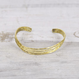 Cuff Bracelet Wave hammered