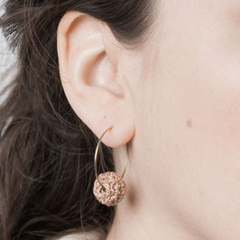 EARRING Creole Chrochet bead