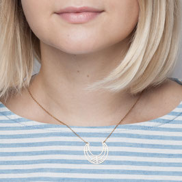 NECKLACE short geometric Moon