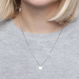 NECKLACE short silver mini Hexagon