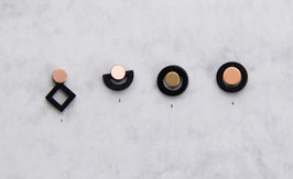WOODEN Studs round Shapes Black