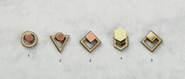 WOODEN Studs geometric Shapes